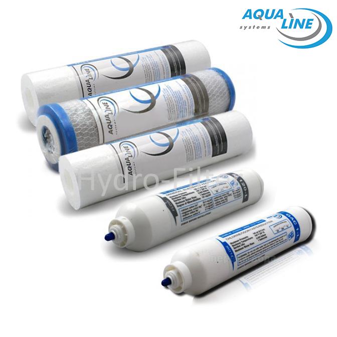 Комплект картриджей Aqualine для фильтра обратного осмоса RO-6 с минерализатором