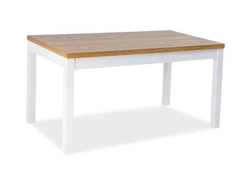 Стол обеденный деревянный Kent II 160x90(240) Signal бук/белый