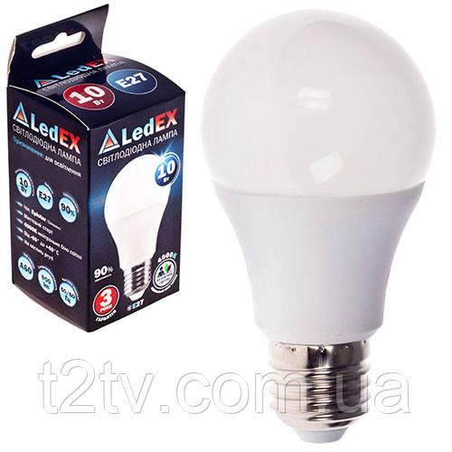 Лампа светодиодная 220V E27 10W 1000Lm 4000K 270º LEDEX NEW