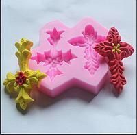 Молд силиконовый кондитерский крестики