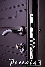 Двери квартирные, серия Элегант, модель Эстепона, гнутый профиль, 2 контура уплотнения, 2 замка, фото 3