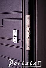 Двери квартирные, серия Элегант, модель Эстепона, гнутый профиль, 2 контура уплотнения, 2 замка, фото 2