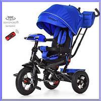 Детский трехколесный велосипед., пульт, МР3, цвет Синий Индиго. Turbo Trike M 4060 -10