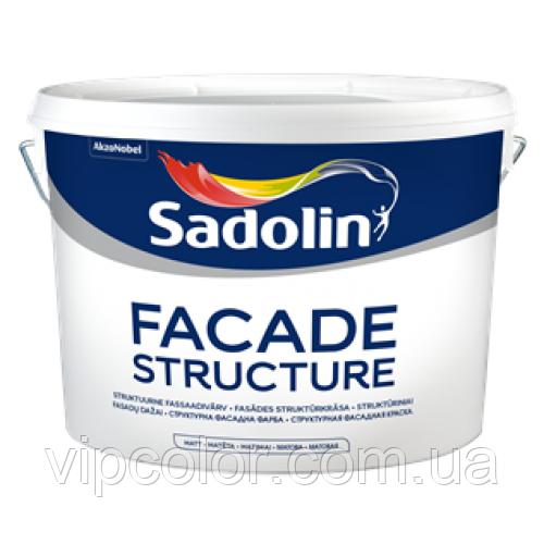 Sadolin FACADE STRUCTURE 10 л быстросохнущая краска для наружных работ Белая