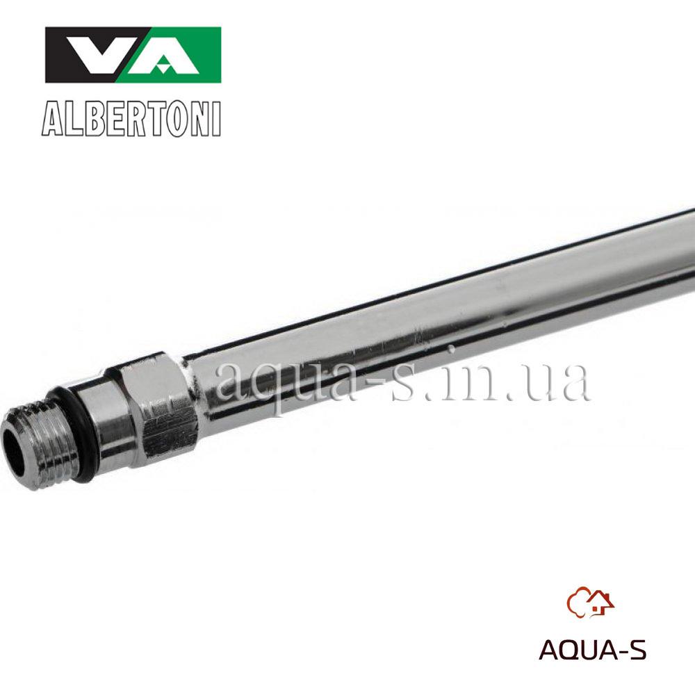 Трубка медная хром Albertoni 600 мм.(M10xD10) для подключения смесителя (Италия)