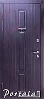 Двери уличные, серия Элегант, модель Нью-Йорк, гнутый профиль, 2 контура уплотнения, 2 замка