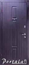 Двери уличные, серия Элегант, модель Нью-Йорк, двухцветная, гнутый профиль, 2 контура уплотнения, 2 замка