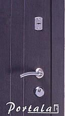 Двери уличные, серия Элегант, модель Нью-Йорк, гнутый профиль, 2 контура уплотнения, 2 замка, фото 2