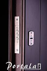 Двери уличные, серия Элегант, модель Нью-Йорк, гнутый профиль, 2 контура уплотнения, 2 замка, фото 3
