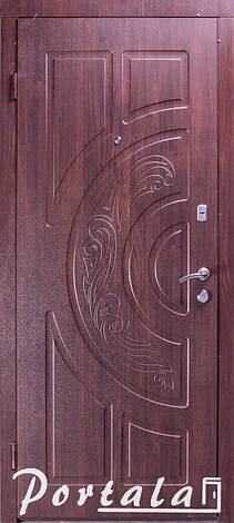 Двери уличные, серия Элегант, модель Рассвет, гнутый профиль, 2 контура уплотнения, 2 замка, фото 2