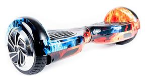 "Гироборд Smart Balance Wheel 6.5"" (Cамобаланс, Led, Bluetooth, сумка) Огонь и Лёд, фото 2"