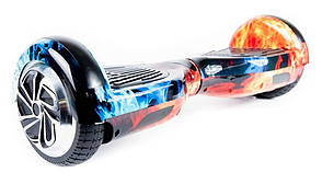 "Гироборд Smart Balance Wheel 6.5"" (Cамобаланс, Led, Bluetooth, сумка) Огонь и Лёд"