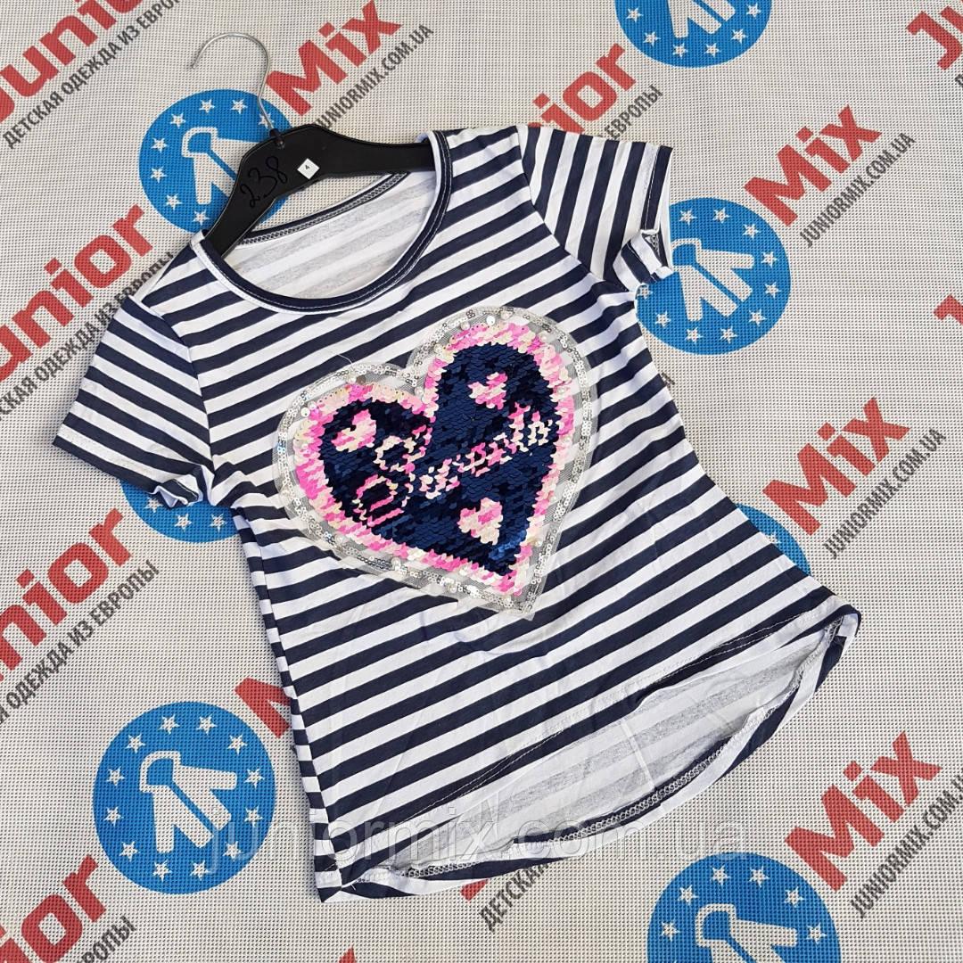 Детская футболка для девочек в полоску оптом ITALY