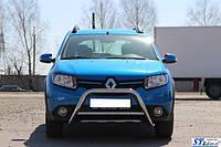 Передняя дуга WT006 (нерж.) Renault Sandero 2013 гг.
