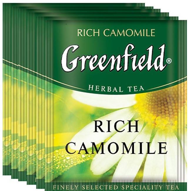 Чай травяной с ромашкой Greenfield Rich Camomile 100 пак. м/у HoReCa