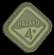 Нашивка на липучке Hazard 4 Diamond Shape  Hazard 4 , OD зеленая