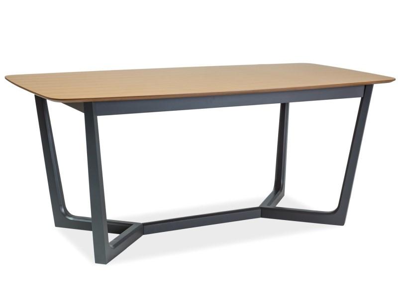 Стол обеденный деревянный Dossier II Signal дуб/графит
