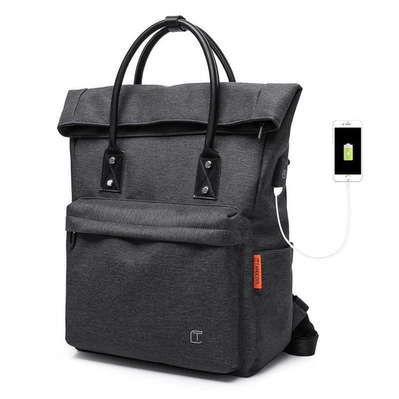 90b8655c0a5c Крутой женский рюкзак-сумка Tangcool TC703, с USB портом и отделением для  ноутбука,