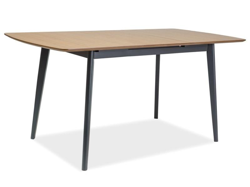 Стол обеденный деревянный Vitro II Signal дуб/графит