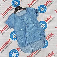 Детская котоновая футболка для девочек оптом ITALY