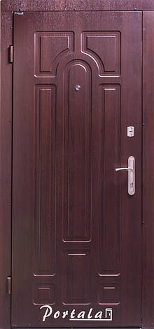 Двери квартирные, серия Комфорт, модель Арка, на трубе, темный орех, 2 замка, фото 2