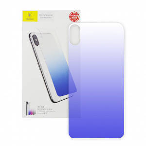 Baseus Coloring Tempered Glass Retral Film for iPhone X/11 Pro Blue