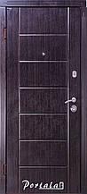Двери квартирные, серия Комфорт, модель Токио, на трубе, венге тёмный, 2 замка