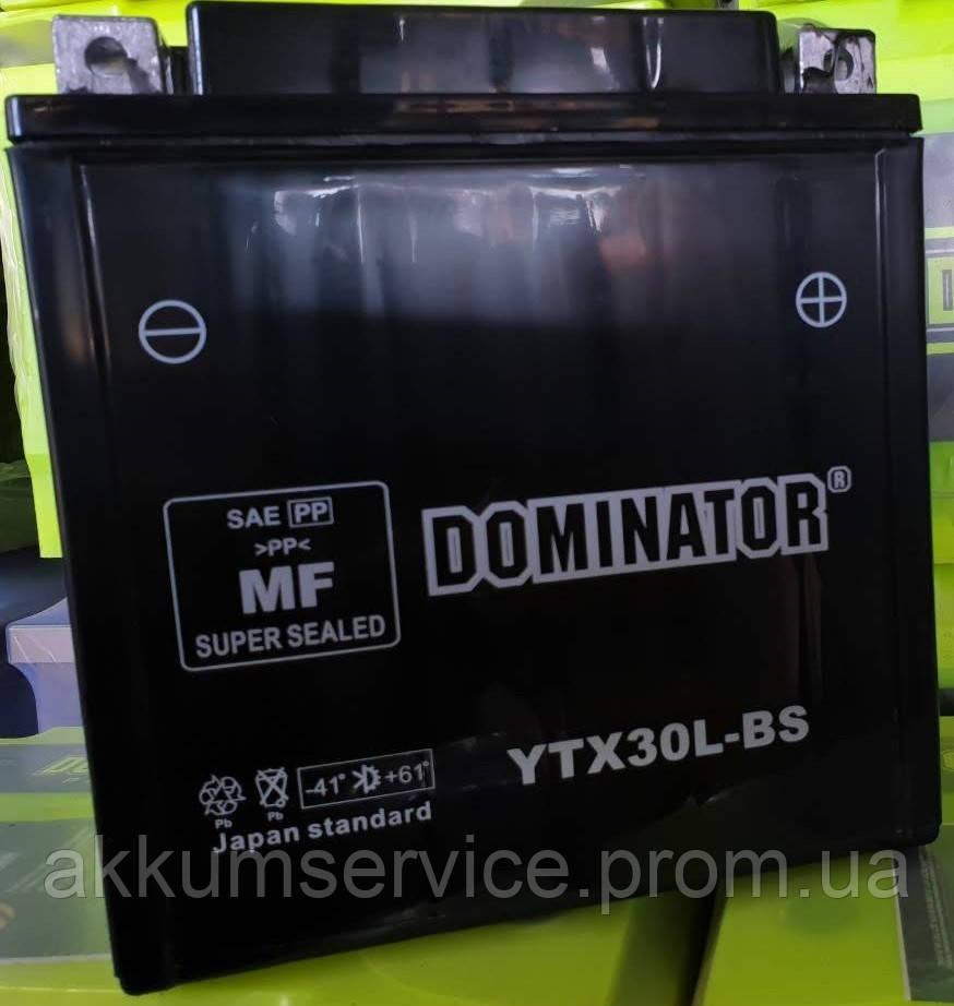 Аккумулятор мото Dominator  YTX30L-BS (30AH 12V)