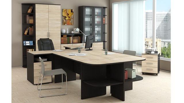"""На фото: кабинет для руководителя """"Деловой"""" (мебель для офиса)"""