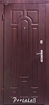 Двери уличные, серия Комфорт, модель Арка, тёмный орех(улица), короб - профильная труба, 2 замка