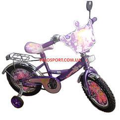 Детский велосипед Mustang Принцесса 14 дюймов фиолетовый