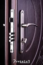 Двери уличные, серия Комфорт, модель Рассвет, тёмный орех, короб - профильная труба, 2 замка, фото 3