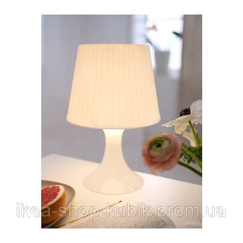 ИКЕА ЛАМПАН Лампа настольная, белая