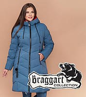 Braggart Youth 25695 | Длинная женская куртка большого размера темно-голубая