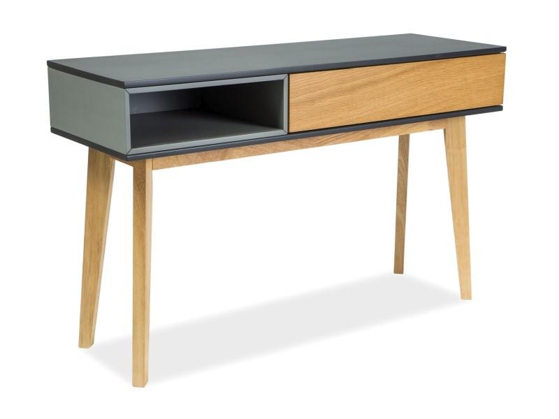 Журнальный столик Roma C Signal графит/серый/дуб