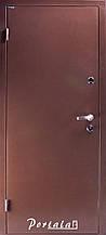Двери уличные, серия Антик 130, гнутый профиль, антик медный снаружи, металл 1,8 мм