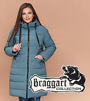 Braggart Youth 25275 | Зимняя женская куртка большого размера светлая бирюза
