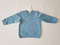 Свитшот для мальчика детский H&M, голубой, размер 74,возраст 6-9 мес.