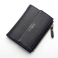 Женский кошелёк мини Baellerry на кнопке черного цвета