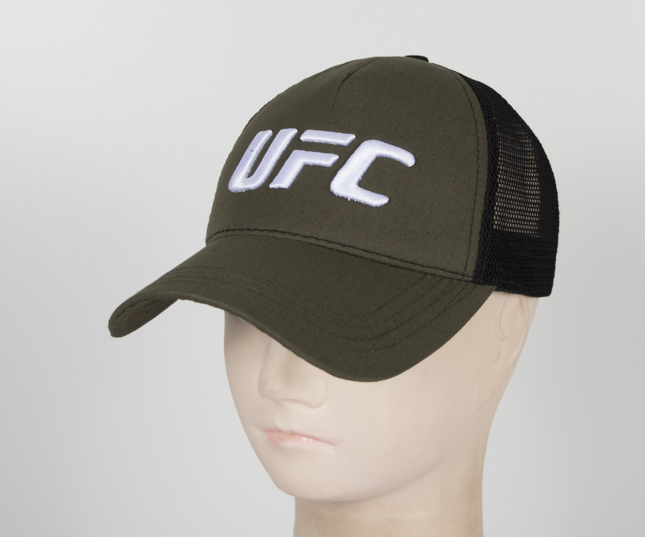 Бейсболка вышивка сетка UFC1901 Хаки