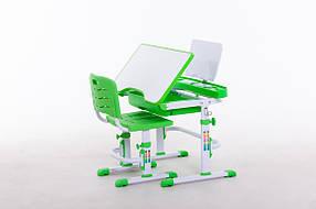 Комплект парта+стілець SportMax М 7038 + підставка для книжок в подарунок зеленого кольору