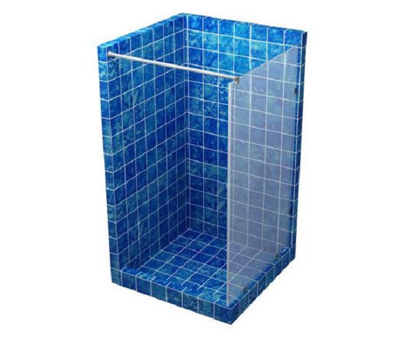 Стеклянная перегородка для душа 1200*2000 прозрачная