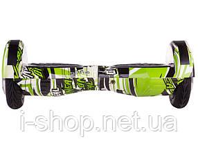 Гироборд TaoTao U6 APP - 8 дюймов с приложением и самобалансом Jungle (Зеленый граффити), фото 2