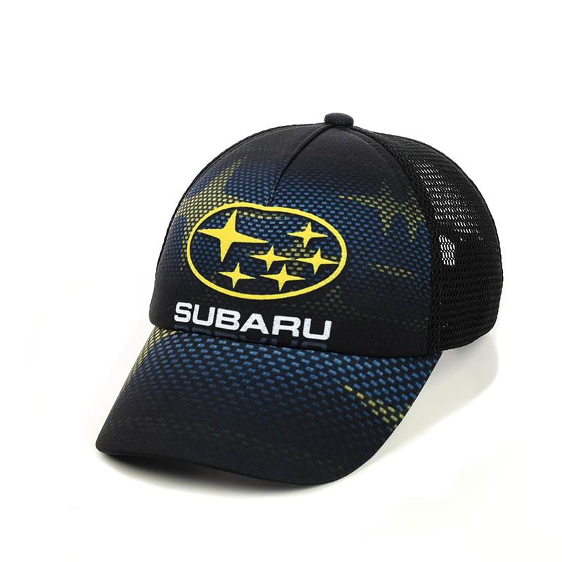 """Бейсболка  """"Subaru"""" с черной сеткой"""