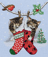 "PCE0504  ""Рождественские котята (Christmas Kittens)"" ANCHOR. Набор для вышивания нитками"
