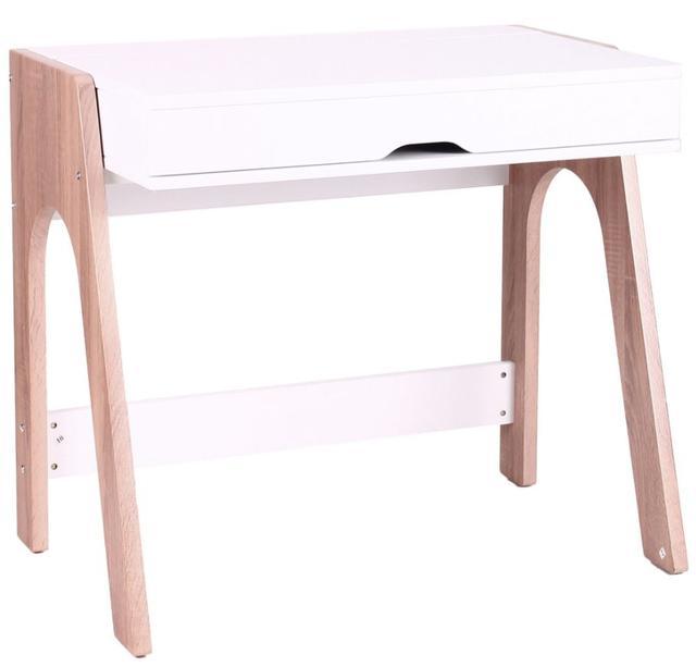 Компьютерный стол Esenin белый+орех светлый, белый (фото 4)