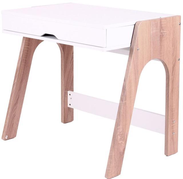 Компьютерный стол Esenin белый+орех светлый, белый (фото 7)