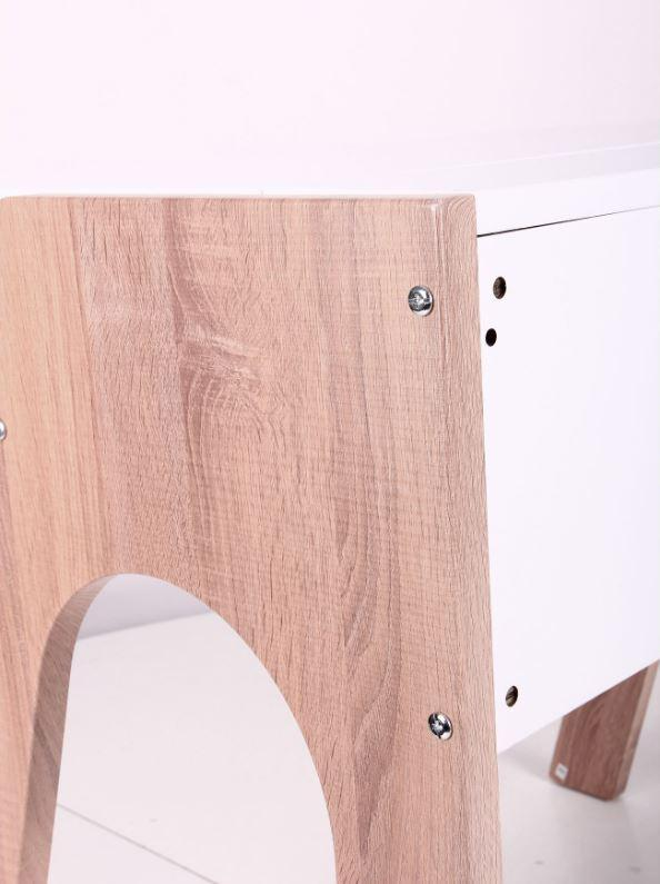 Компьютерный стол Esenin белый+орех светлый, белый (фото 9)
