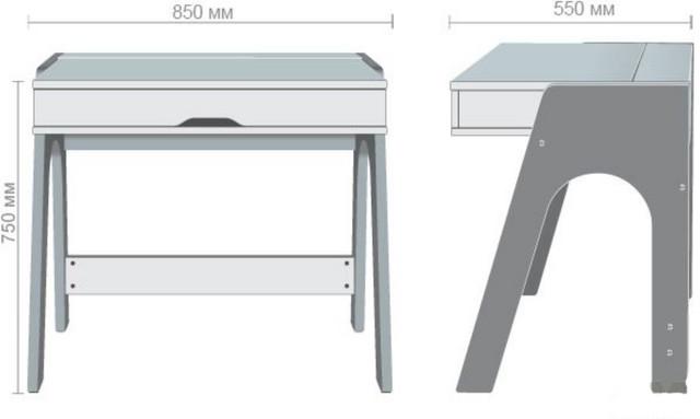 Компьютерный стол Esenin белый+орех светлый, белый (размеры)
