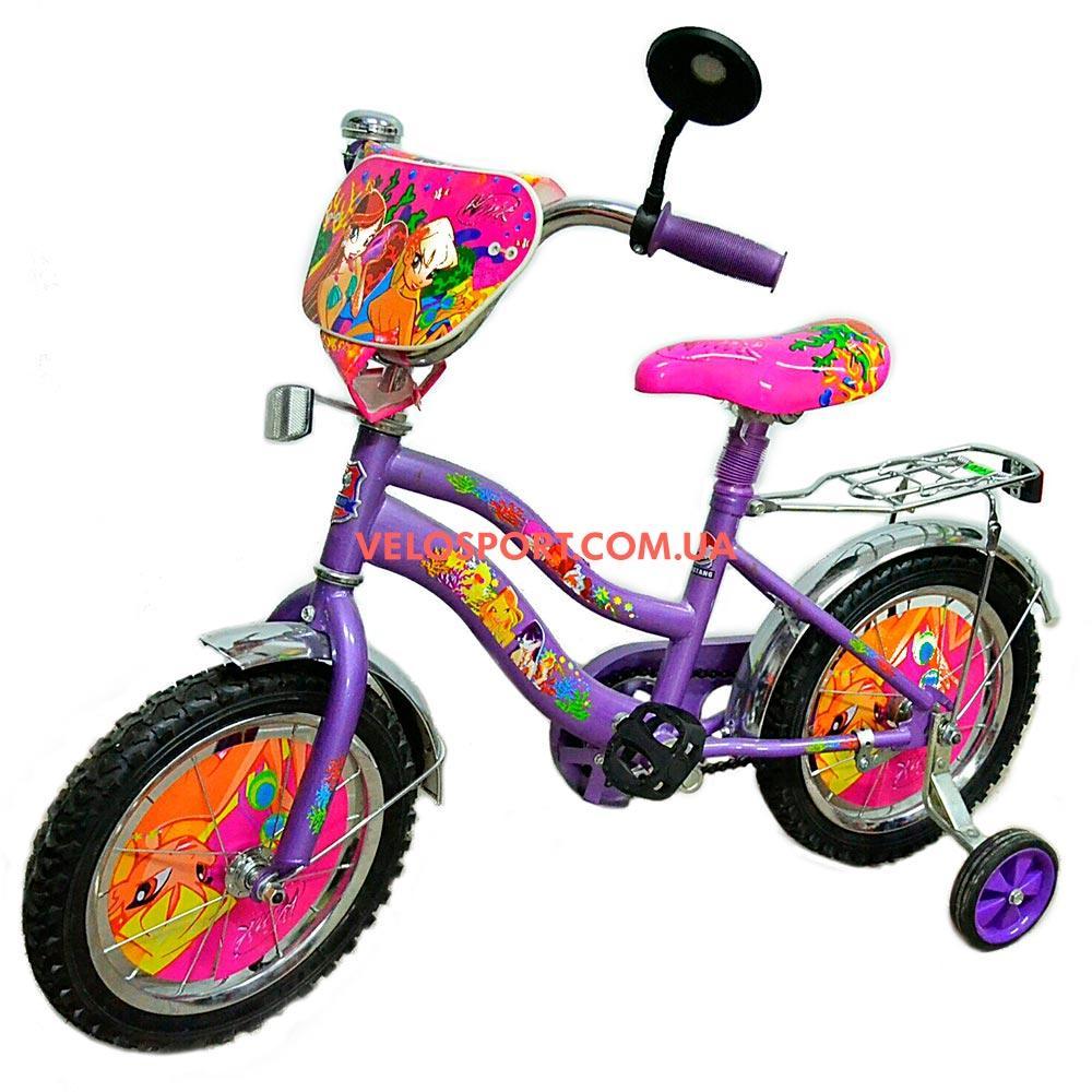 Детский велосипед Mustang Winx 14 дюймов фиолетовый